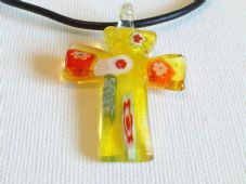 Lampwork Cross Necklace